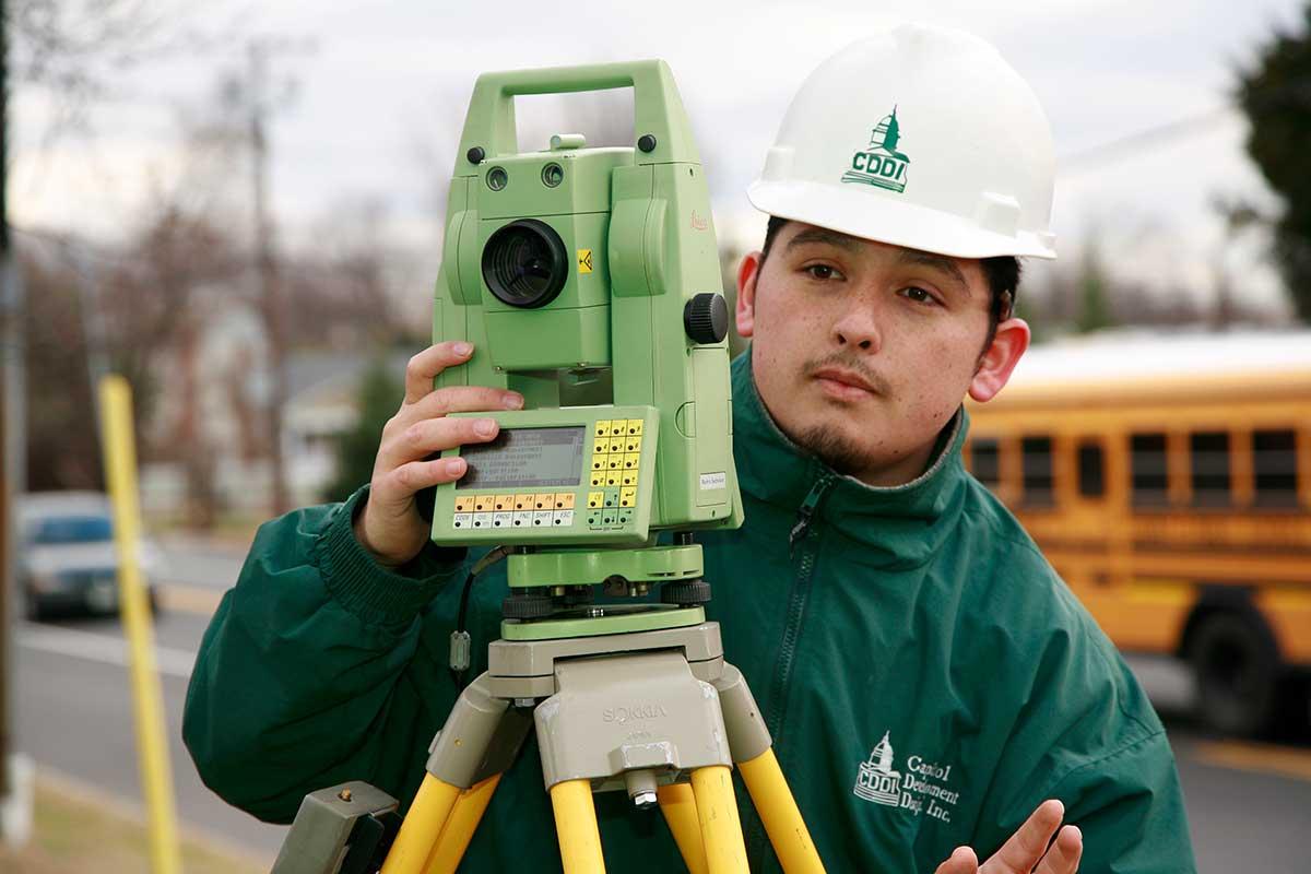 Surveying property at CDDI
